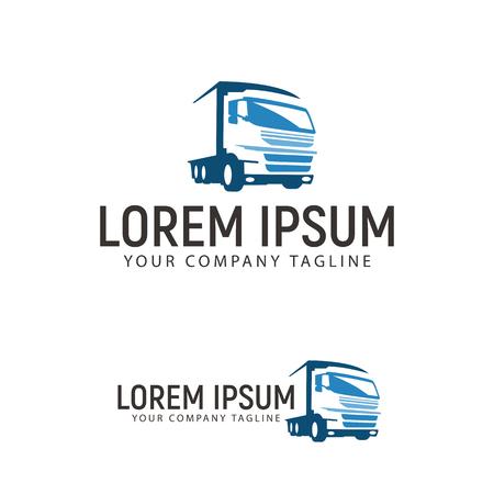 trucking transportation logo design concept template