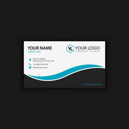 Ilustración de Modern Creative and Clean Business Card Template with blue dark color - Imagen libre de derechos