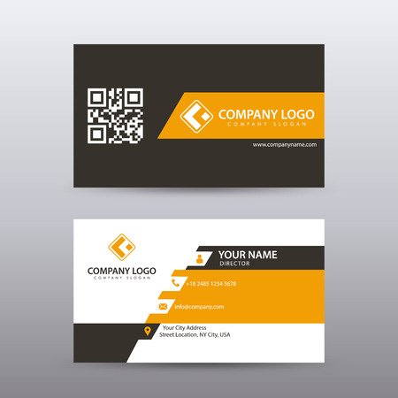 Illustration pour Modern Creative and Clean Business Card Template with orange Black color . Fully editable vector. - image libre de droit