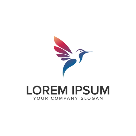 Ilustración de modern bird logo design concept template. fully editable vector - Imagen libre de derechos