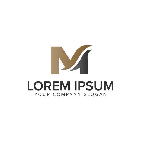 Ilustración de Letter M business logo design concept template. fully editable vector - Imagen libre de derechos