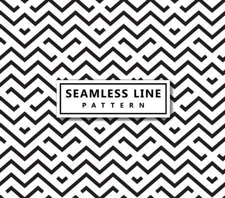 Ilustración de The geometric pattern by stripes . Seamless vector background. Black texture. - Imagen libre de derechos