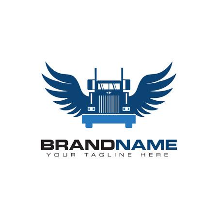 Photo pour truck transportation logo - image libre de droit