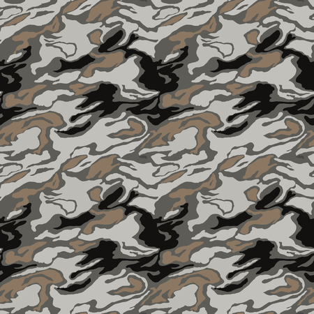 Illustration pour Camouflage pattern. Seamless. Military background. Soldier camouflage. Abstract seamless pattern for army, navy, hunting, fashion cloth textile. Colorful modern soldier style. Vector facric texture. - image libre de droit