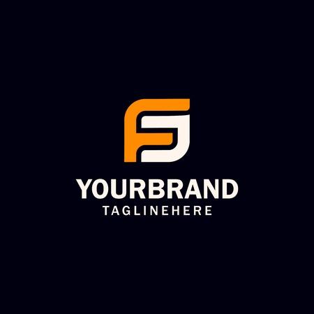 Illustration pour initial FS or SF letter logo design - image libre de droit