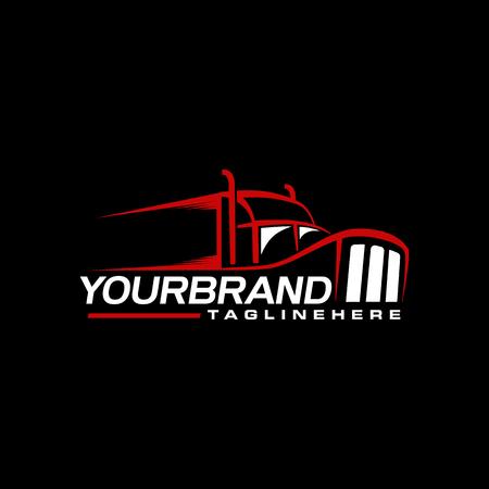 Ilustración de Trucking logo design branding - Imagen libre de derechos