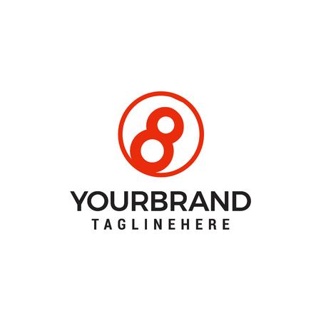 Illustration pour eight ball logo Template vector icon design - image libre de droit