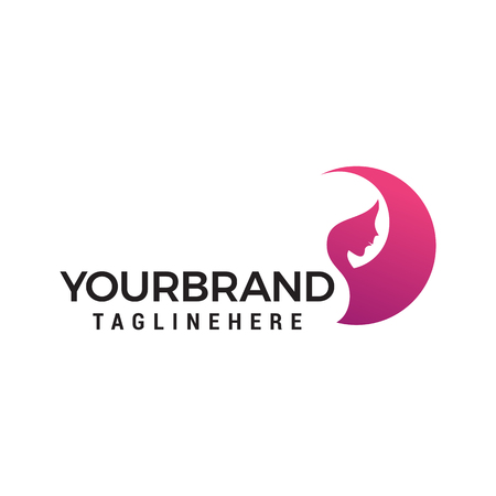 Ilustración de women face beauty logo design concept template vector - Imagen libre de derechos