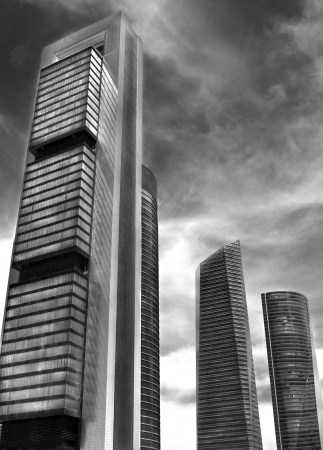 View of 4 Towers Business Area of Madrid, Comunidad de Madrid, Spain, Europe