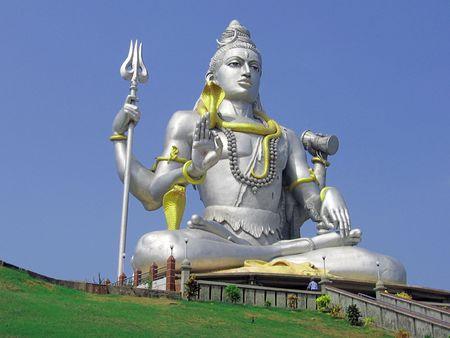Hundu god Shiva in Murudeswar, India