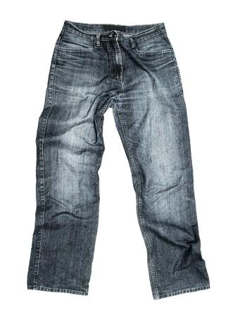 Foto de Jeans isolated on white background - Imagen libre de derechos