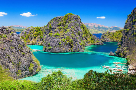 Very beautyful lagoon in the islands, Philippines