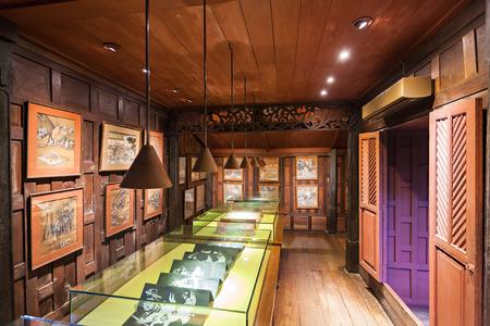 BANGKOK, THAILAND - NOVEMBER 10, 2014: The Jim Thompson House interior. It is a museum in Bangkok, Thailand.