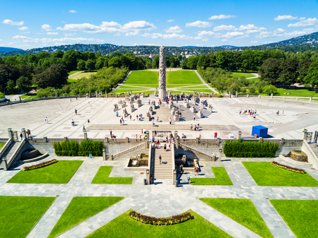 Photo pour Vigeland sculpture park or Vigelandpark in Oslo, Norway. Vigeland is located in the Frognerpark in Oslo. - image libre de droit
