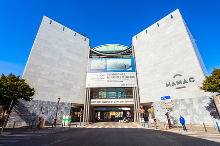 NICE, FRANCE - SEPTEMBER 27, 2018: Museum of Modern and Contemporary Art or MAMAC in Nice city, France