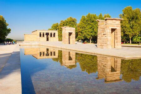 Photo pour The Temple of Debod or Templo de Debod is an ancient Egyptian temple that was rebuilt in Madrid, Spain. - image libre de droit