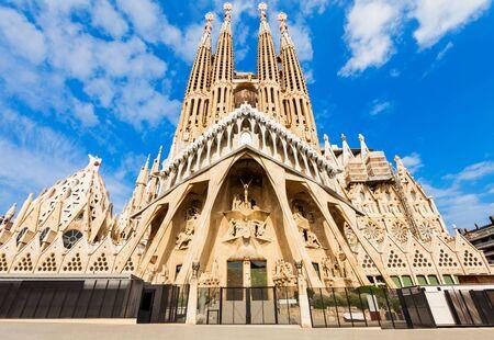 Foto de Sagrada Familia cathedral in Barcelona - Imagen libre de derechos