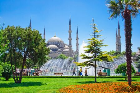 The Sultan Ahmed Mosque in Istanbul, Turkey