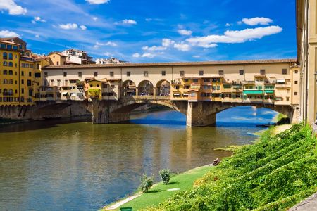 Anciant bridge Ponte Vecchio in Florence. Italy.