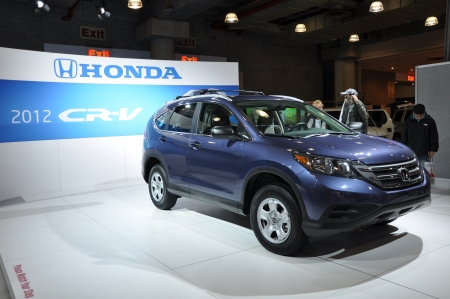 NEW YORK - APRIL 11  The Honda CR-V at the 2012 New York International Auto Show running from April 6-15, 2012 in New York, NY