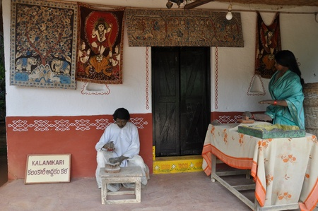 Shilparamam Arts and Crafts Village in Hyderabad, India