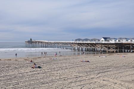 Mission Beach, near San Diego, in California