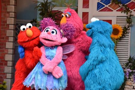 Foto de The Magic of Art show at Sesame Place in Langhorne, Pennsylvania - Imagen libre de derechos