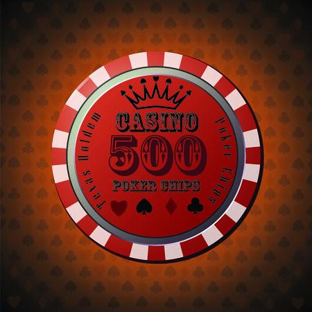 Poker chip 500