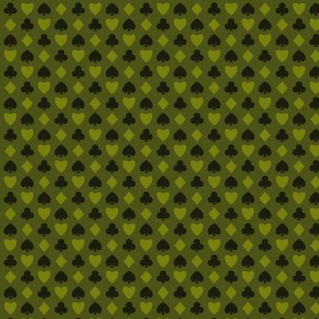 playing, poker, blackjack cards symbol seamless psttern green