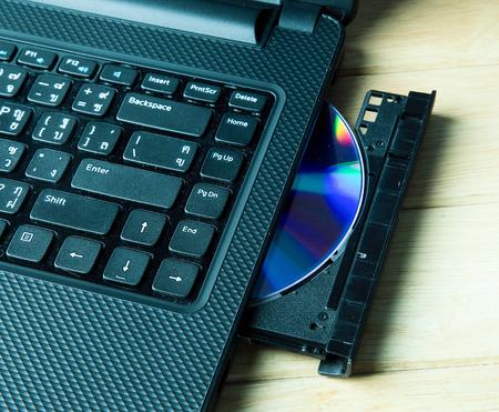 Open DVD drive