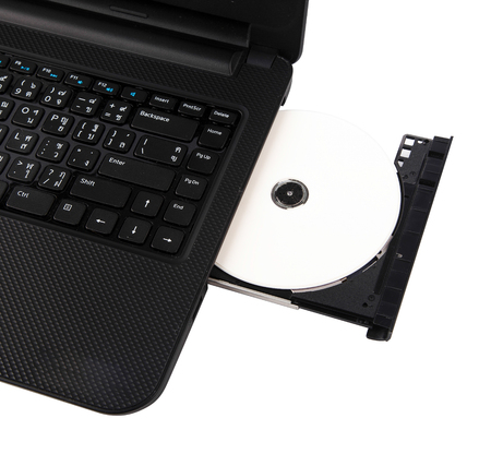 Laptop with dvd disk