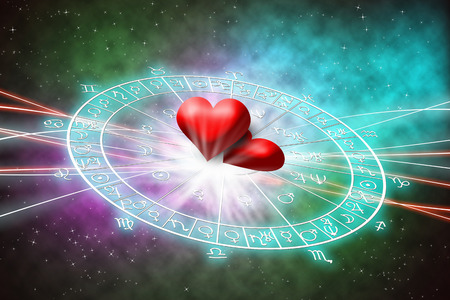 Photo for love in the horoscope concept. - Royalty Free Image