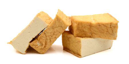 Foto de tofu blocks isolated on white - Imagen libre de derechos