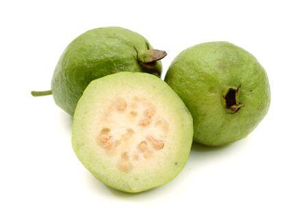 Photo for Guava fruit isolated on white background. - Royalty Free Image