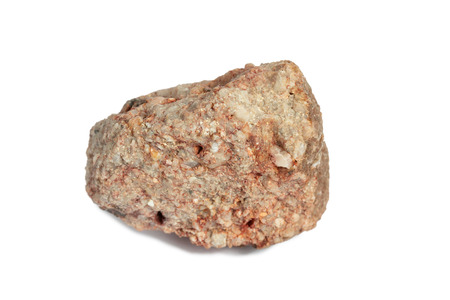 Foto de conglomerate stone isolate on white background - Imagen libre de derechos