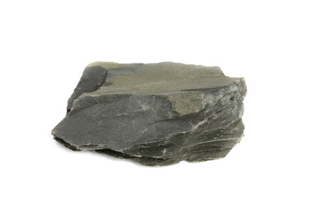 Photo for Slate Rock isolate on white background - Royalty Free Image