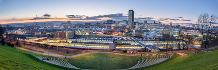 Panoramic view of Sheffield city from the amphitheatre.