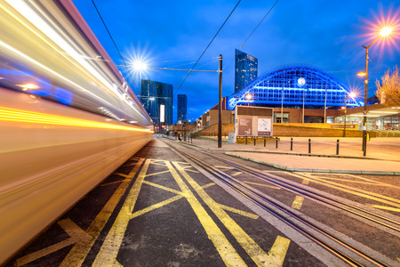 Photo pour Former Manchester Central railway station currently is an exhibition and conference centre, Manchester, UK. - image libre de droit