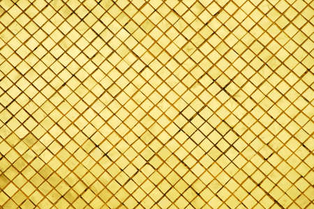 Photo pour Gold tiles reflection background of retro thai culture shot from Pagoda from The Temple of the Emerald Buddha in Bangkok Thailand - image libre de droit