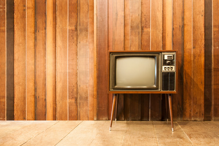 Old vintage television or tv in room