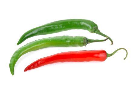 Foto für Hot chili peppers isolated on white background - Lizenzfreies Bild