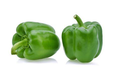 Foto für Green pepper on white background . - Lizenzfreies Bild