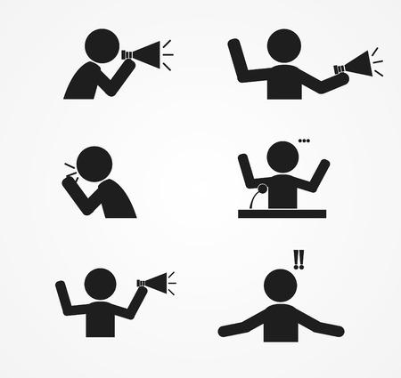 Illustration pour business  Yell icon design  vector illustration - image libre de droit