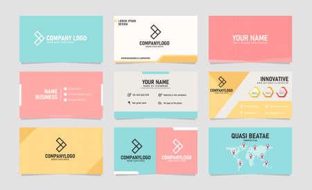 Illustration pour Modern creative business card design template Vector illustration - image libre de droit