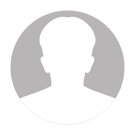 Illustration for Profile anonymous face icon. Gray silhouette person. Male default avatar. Photo placeholder. Isolated on white background. Vector illustration - Royalty Free Image