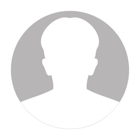 Ilustración de Profile anonymous face icon. Gray silhouette person. Male default avatar. Photo placeholder. Isolated on white background. Vector illustration - Imagen libre de derechos