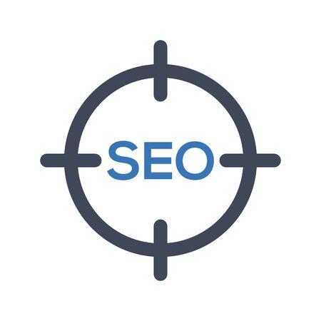 Illustration pour Seo target icon - image libre de droit