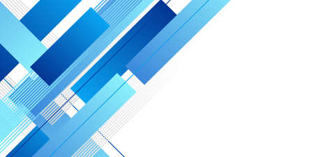 Illustration pour Abstract minimal blue background with geometric creative and minimal gradient concepts, for posters, banners, landing page concept image - image libre de droit