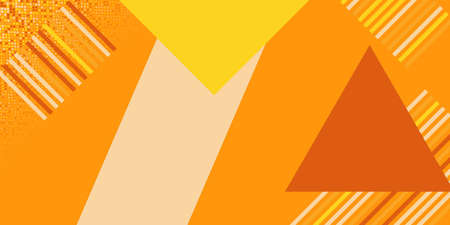 Illustration for Orange triangle angle arrow overlap vector background on space for text and message artwork design - Royalty Free Image