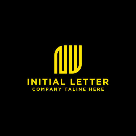 Letter NW Initial icon / Monogram. - Inspirational vector logo design - Vector